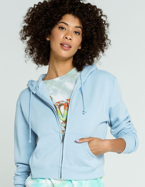 crop zip hoodie
